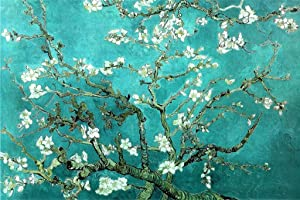 Vincent Van Gogh Almond Blossom Branches Impressionist Artist Painting Replica Poster for Dorm Room Kitchen Artistic Decor Gough Cubicle Locker Mini Art Poster 8x12