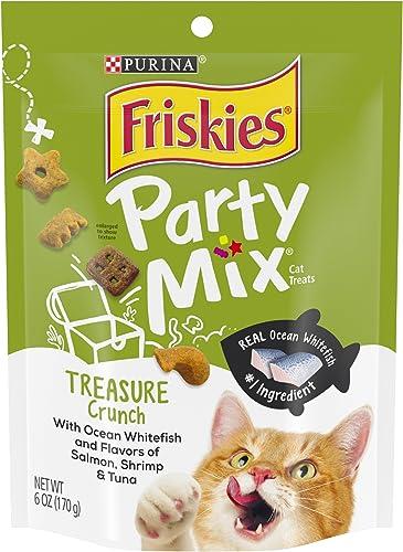 Purina Friskies Party Mix Crunch Treasure Island Cat Treats