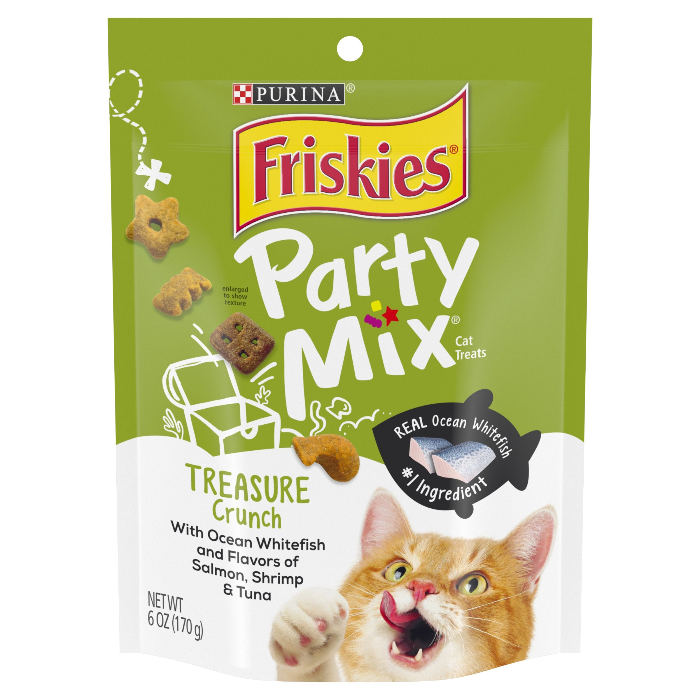 Purina Friskies Party Mix Treasure Crunch Adult Cat Treats - 6 oz. Pouch