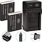 BM Premium Pack of 2 NB6L, NB-6L, NB-6LH Batteries And Charger Kit For Canon PowerShot S120, SX170 IS, SX260 HS, SX280…