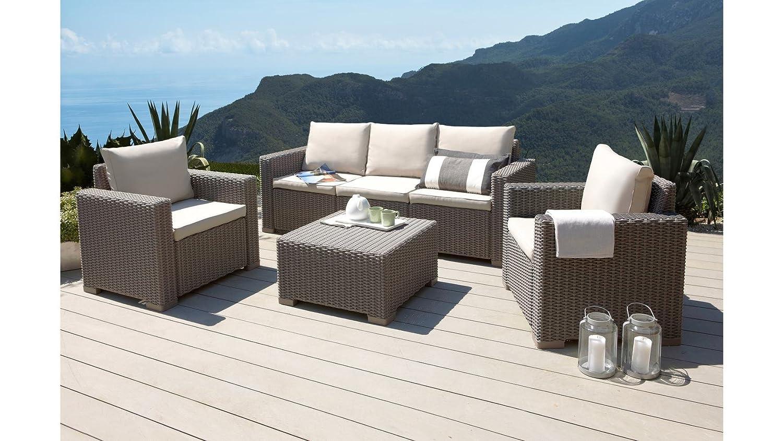 Amazon.de: Mombasa 96114090 4-teilig Loungegruppe, cappuccino/sand