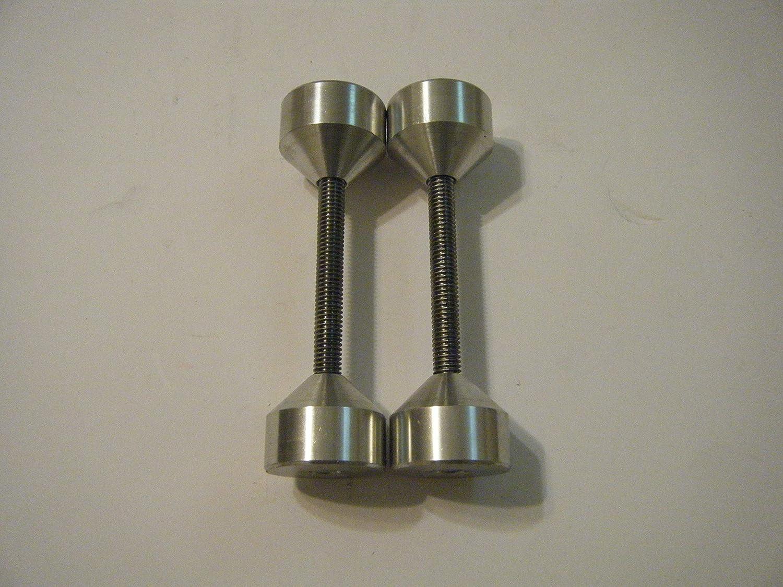 "TWO SETS 3//8-16 1 1//2/""-Two hole pin-6061 Aluminium"