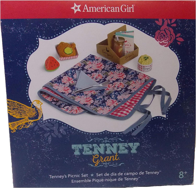 "American Girl 18/"" Doll Tenney Grant Picnic Set Reversible Blanket ONLY"