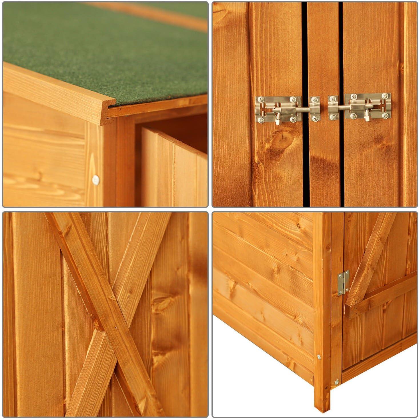 Outsunny - Caseta de madera para exterior - Ideal para el ...