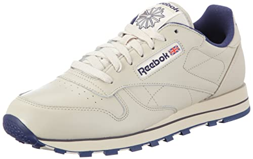 detailed look 24524 128d1 Reebok Men s Classic Leather Track   Field Shoes, Beige (Ecru Navy),