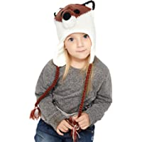 889a2bcf9fb SUMOLUX Winter Kids Warm Fox Animal Hats Knitted Coif Hood Scarf Beanies for  Autumn Winter
