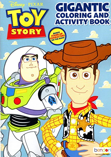 Amazon.com: Pixar Disney Toy Story - Gigantic Coloring & Activity Book -  200 Pages: Toys & Games