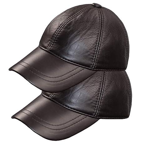 Dazoriginal Gorra Piel Béisbol Cuero Sombrero Hombre Gorras Planas Boina  Mujer 2 56099faf2d8
