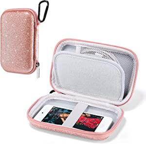 ULAK MP3 MP4 Player Case Bag Compatible with iPod Touch 7th/6th/5th Generation/Soulcker/Sandisk MP3 Player/G.G.Martinsen/Sony NW-A45 Fit for Earphones, USB Cable, Memory Cards, Glitter