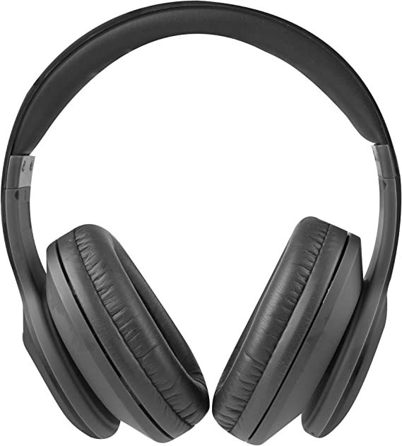 Amazon Com Altec Lansing Mzx300 Blk Wireless Over Ear Bluetooth Headphones With Microphone Black