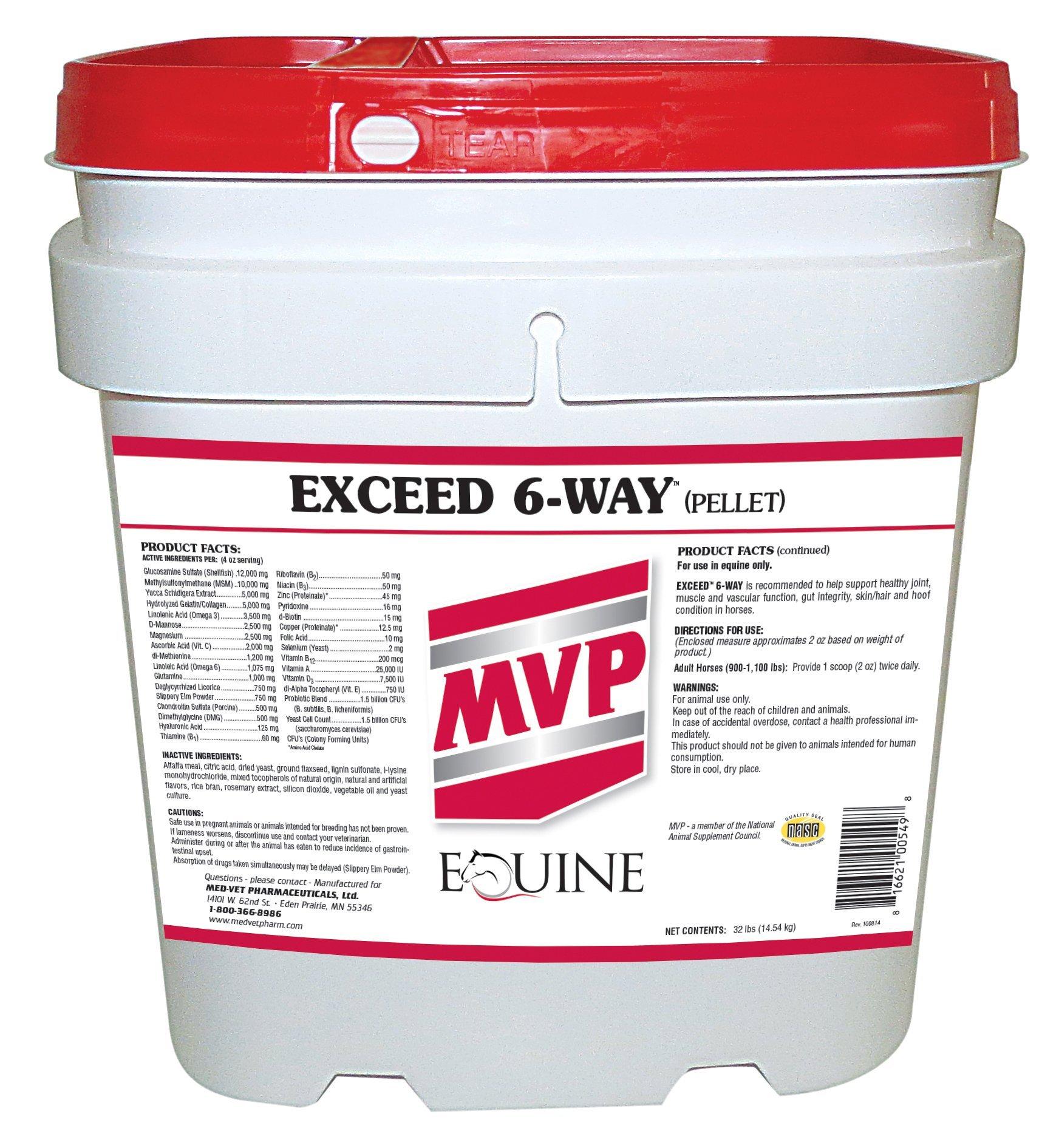 Med-Vet Pharmaceuticals Exceed 6-Way Pellets, 32 lbs by Med-Vet Pharmaceuticals