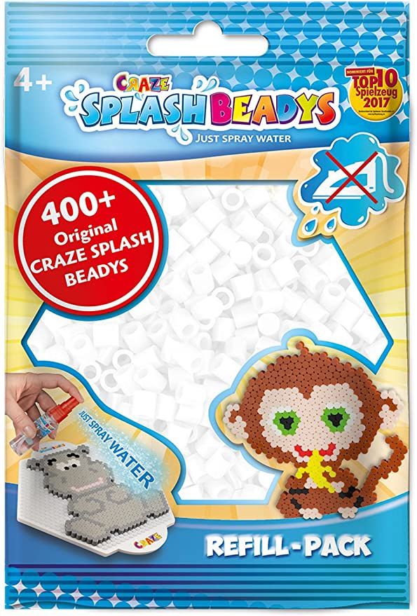 CRAZE- Cuentas de fusibles Fuse Beads Perlen Splash BEADYS Recambio Juego de Abalorios Agua Perla Blanco 11423, Individual, Color: Amazon.es: Juguetes y juegos