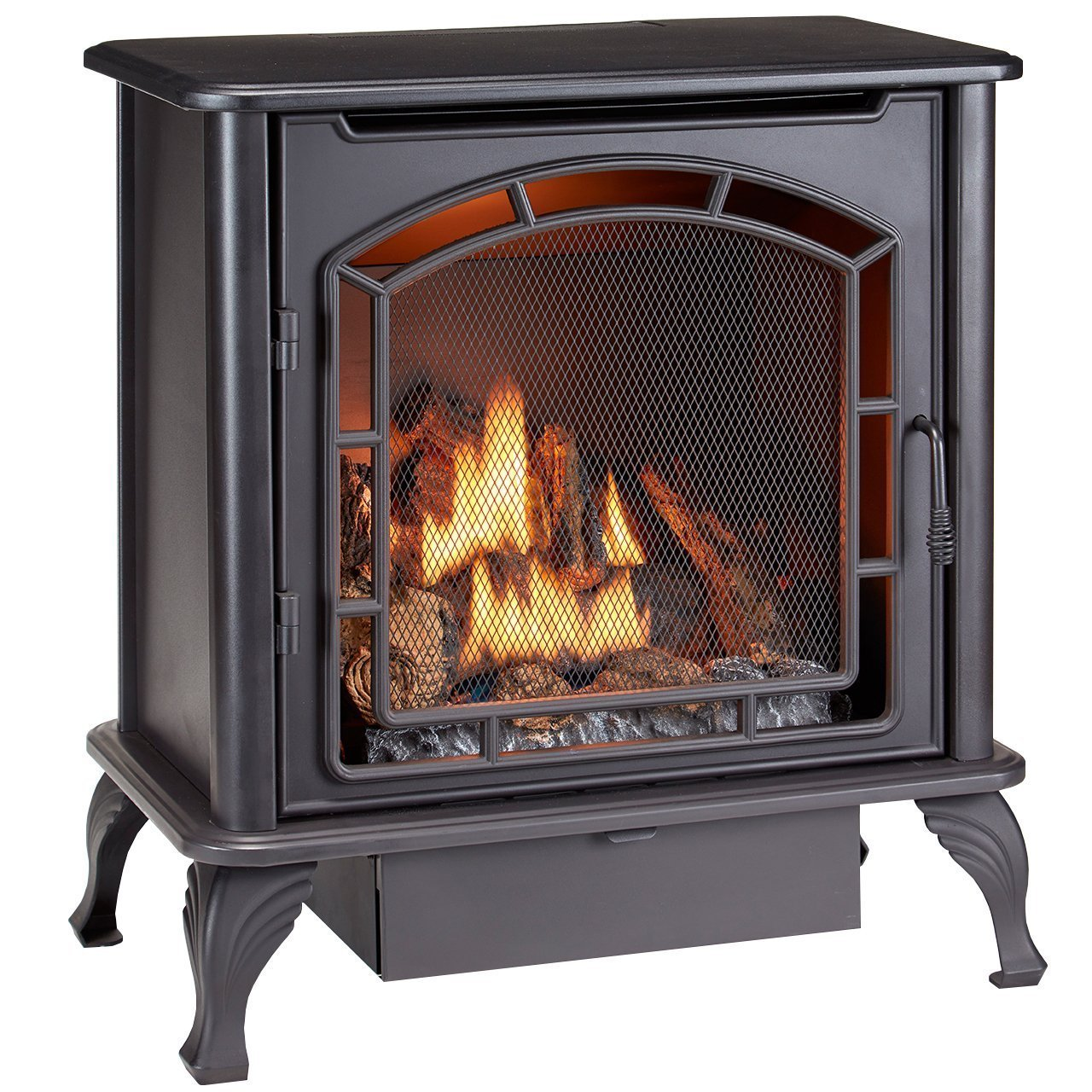 Duluth Forge DF25SMS Dual Fuel Vent Free Gas Stove, Black by Duluth Forge
