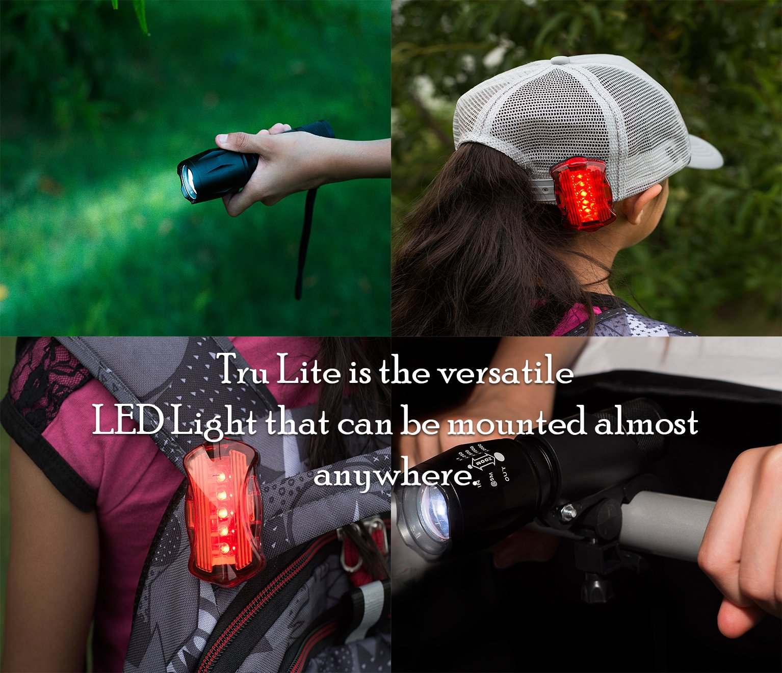 tru*Lite Bike Light Set-Super Bright 10W Removable Military Grade Tactical Flash Light-5 modes-1000+ Lumens-Zoom-5 LED Tail Light-7 modes-Water Resistant-Easy to Install-Life Time Warranty by tru*Lite (Image #7)