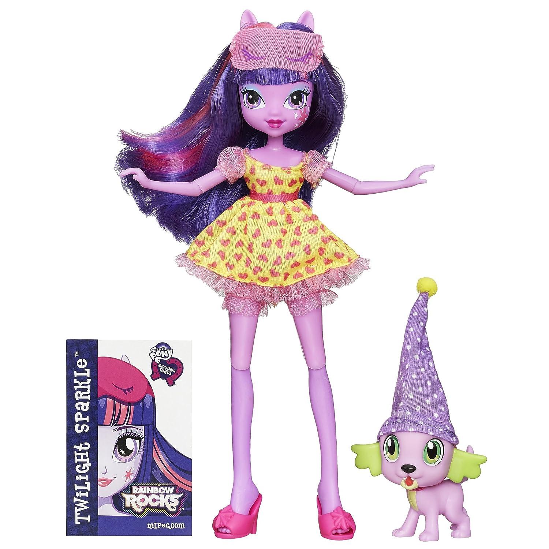 My Little Pony Ecuestre De Niña Arcoíris Rocas Twilight Brillo Y Spike The Cachorro Set