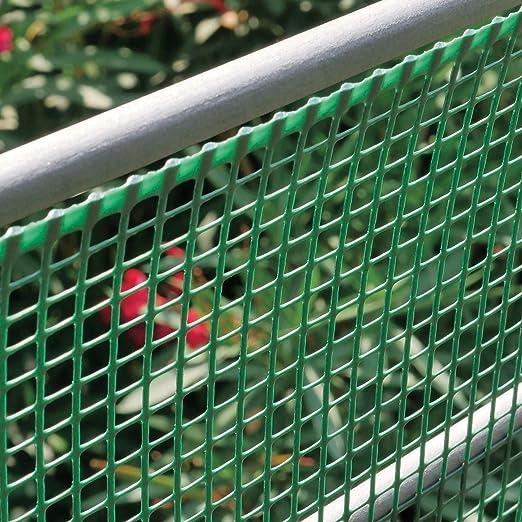 100 cm x 5 metri quadrato 5x5 mm verde rete 5x5 Rete plastica da balcone h