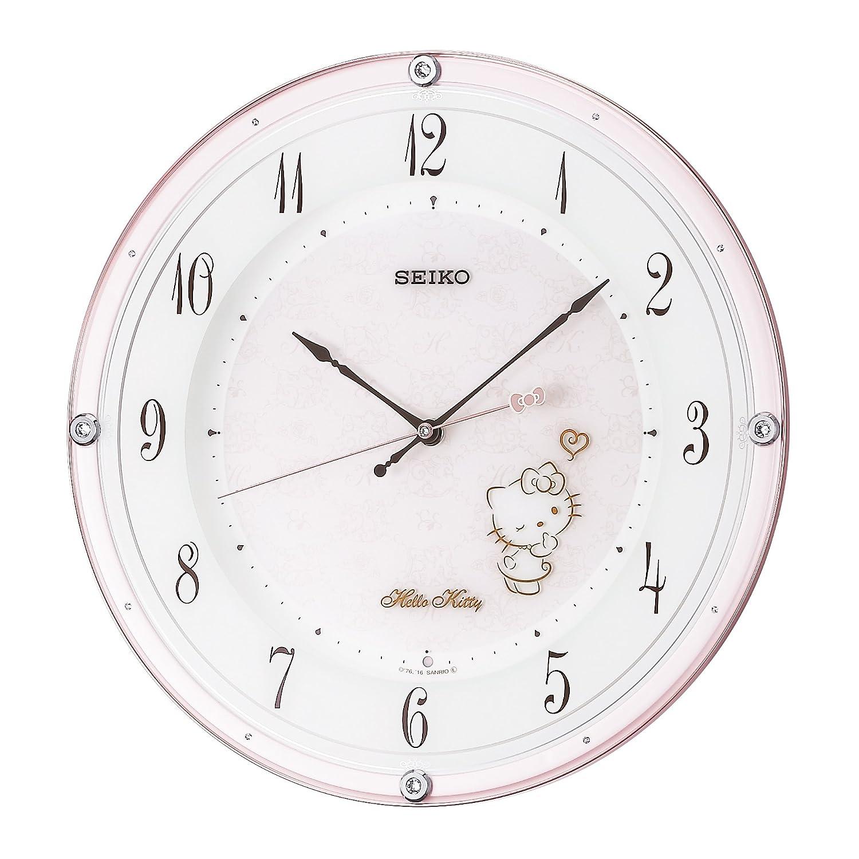 セイコー クロック 掛け時計 ハローキティ ハイライン 電波 アナログ 薄ピンク パール CS501P SEIKO B01IBHW8O4