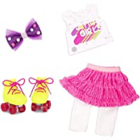 """Glitter Girls by Battat – Roller Skating Fun – 14"""" Deluxe Doll Outfit with Roller Skates – Toys, Clothes, & Accessories…"""