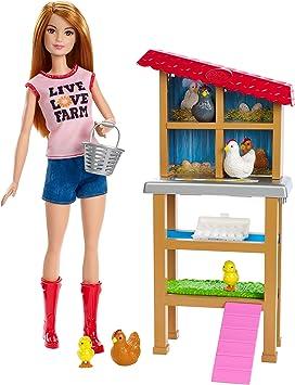 Amazon.es: Barbie- Quiero Ser Granjera de gallinas y Pollitos ...