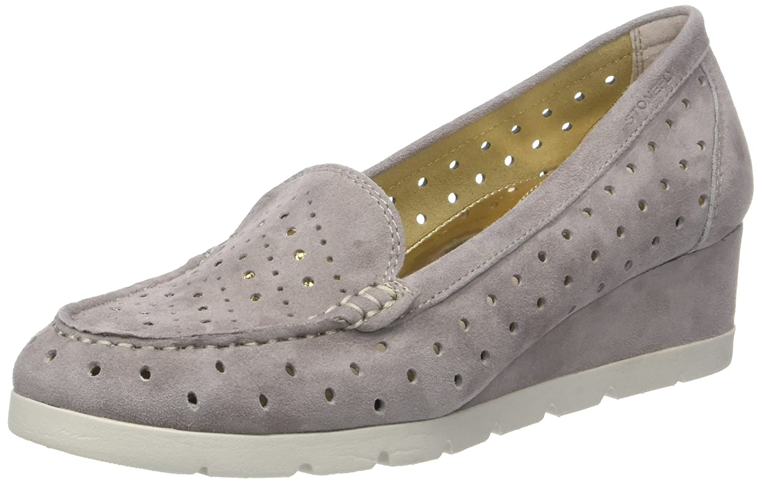 Stonefly Milly 6 Goat Suede, Zapatos con Plataforma para Mujer 37 EU|Beige (Taupe Brown 075)