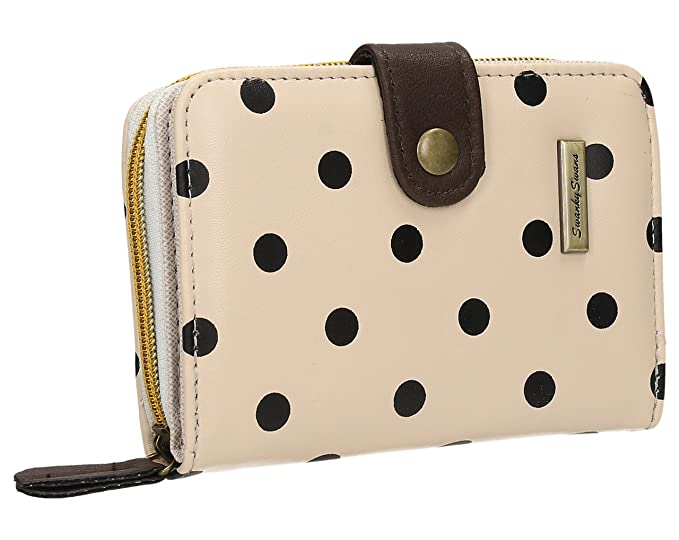 swank yswans Bella - Cartera, tamaño pequeño, diseño de lunares, color Beige, talla talla única: Amazon.es: Zapatos y complementos