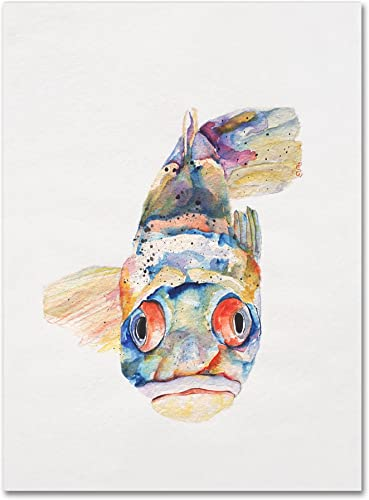 Blue Fish by Pat Saunders-White, 26×32-Inch Canvas Wall Art