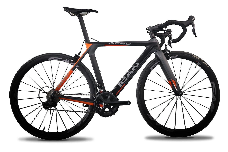 ICAN(アイカン)AERO007 カーボンロードバイク エアロモデル Shimano(シマノ) 105 (5800)グループを採用 Vブレーキ フレームサイズ:50/52/54/56/58cm 重量は約7.3㎏ B073XYZN41 58cm