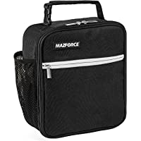 MAZFORCE Original Lunch Box Insulated Lunch Bag - Tough & Spacious Adult Lunchbox to Seize Your Day (Force Black - Lunch…