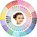 100Pcs 2 Inch Metal Snap Hair Clips for Baby Girls No Slip Grip Metal Barrettes for Toddler Girls Teens Babies Children Kids Women Adults