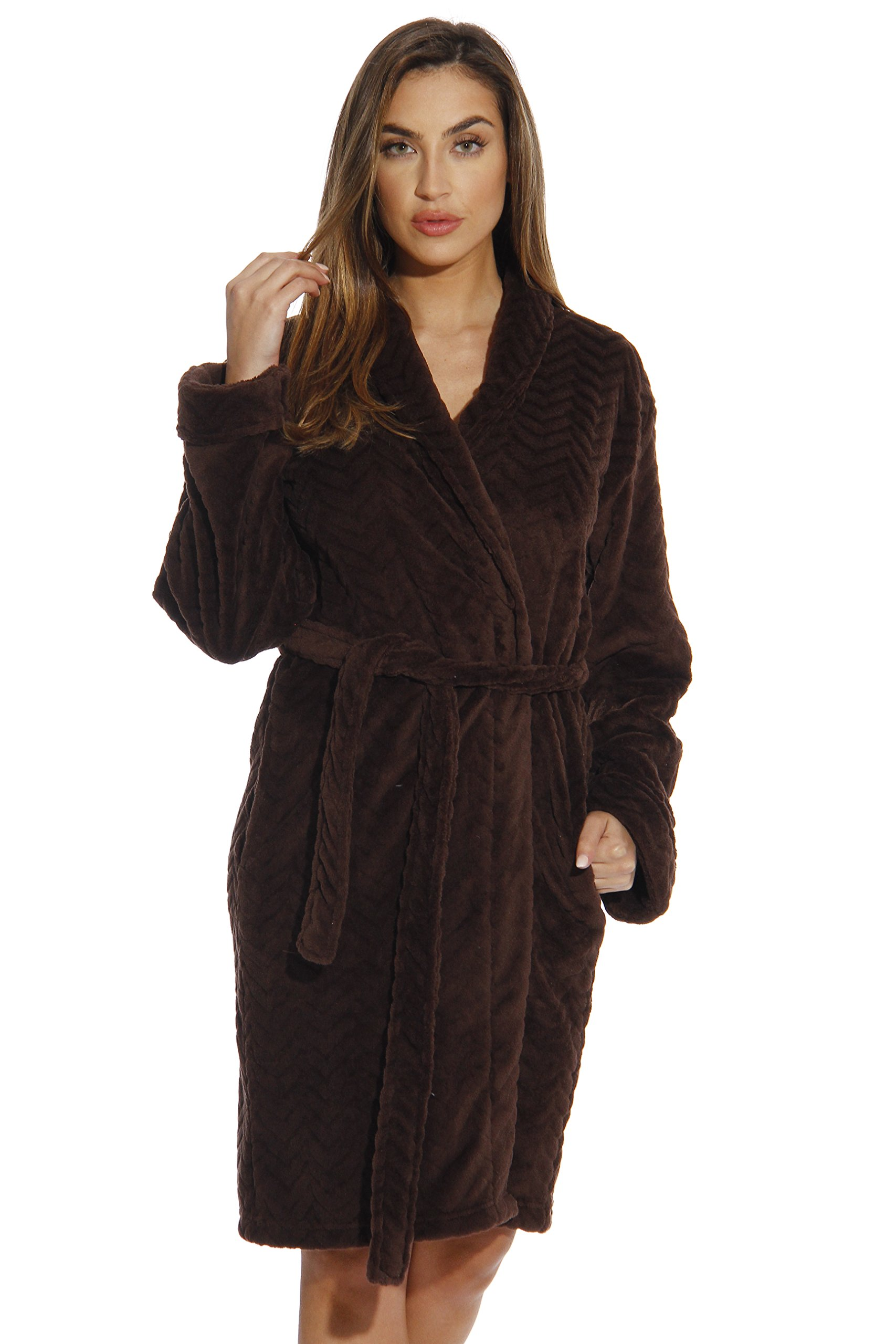 6312-Brown-L Just Love Kimono Robe / Bath Robes for Women