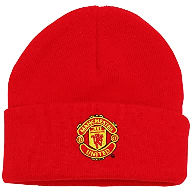 58da58a3 Official Football Merchandise Kids Junior Manchester United FC Core Winter  Beanie Hat