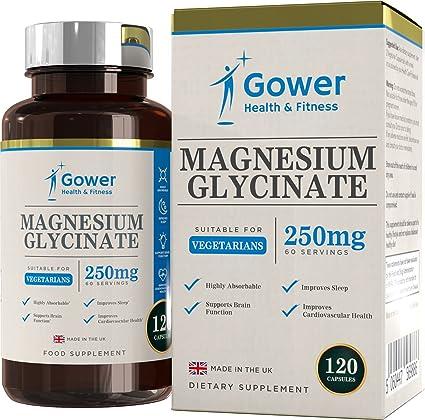 Glicinato de Magnesio 250mg - 120 Capsulas Vegetarianas (2 MESES DE SUMINISTRO) - Suplementos