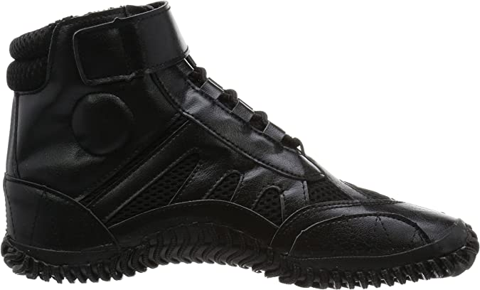Marugo Sports Jog Jika-Tabi: Black with Laces
