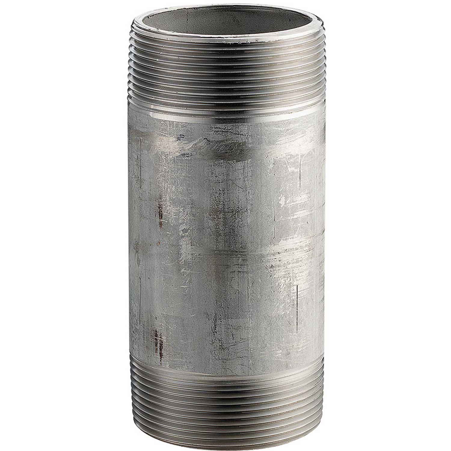 304 Stainless Steel Sch 40 16168 PSI 2 x 6 Pipe Nipple