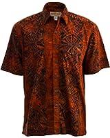 Geometric Sunset Hawaiian Batik Tropical Cotton Shirt By Johari West