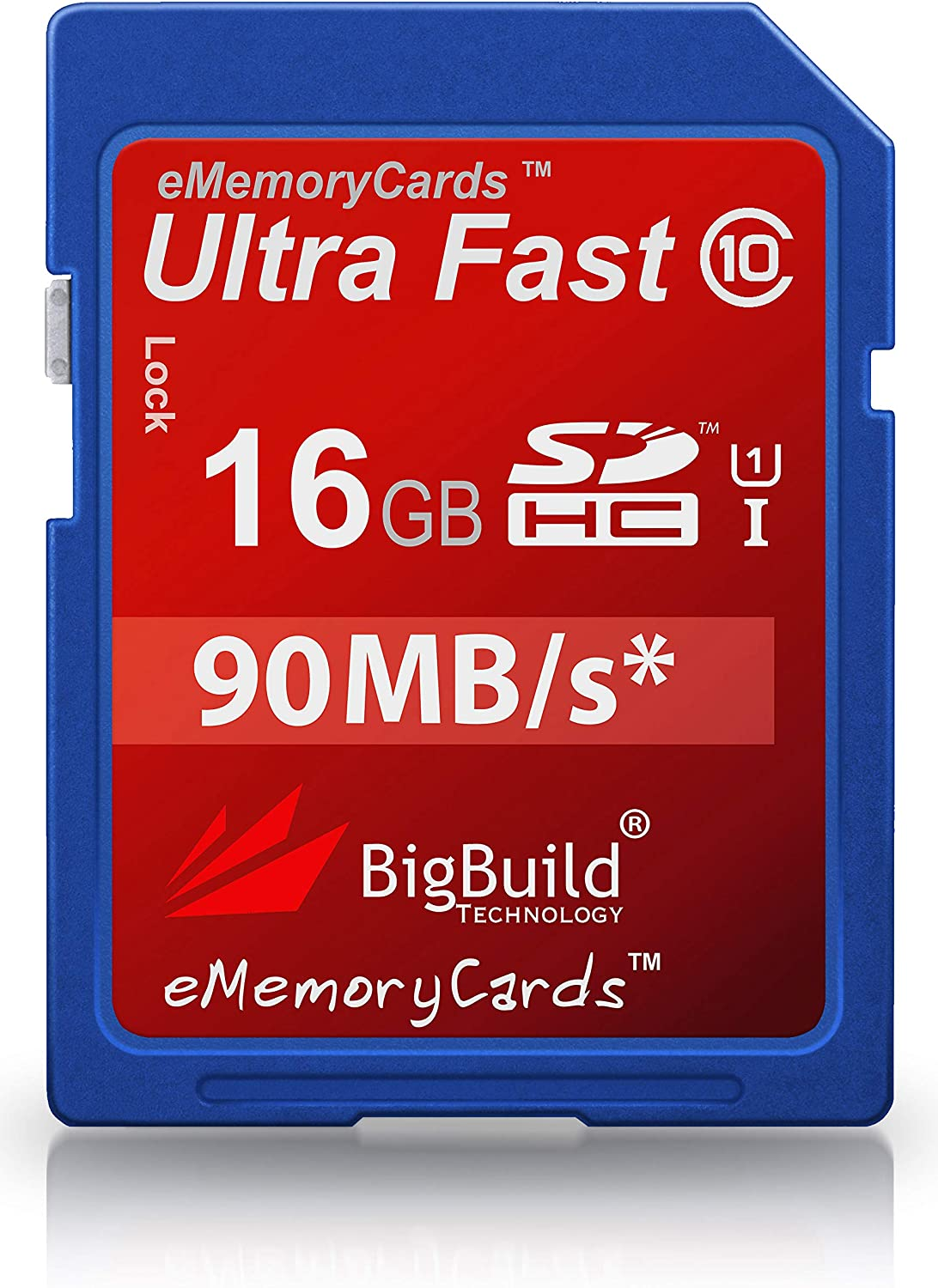 BigBuild Technology 16GB Ultra Fast 90MB SDHC Memory Card For Vivitar DVR 508 Camcorder