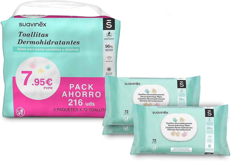 Suavinex Pack 25 Toallitas Dermohidratantes para Bebé, Toallitas ...