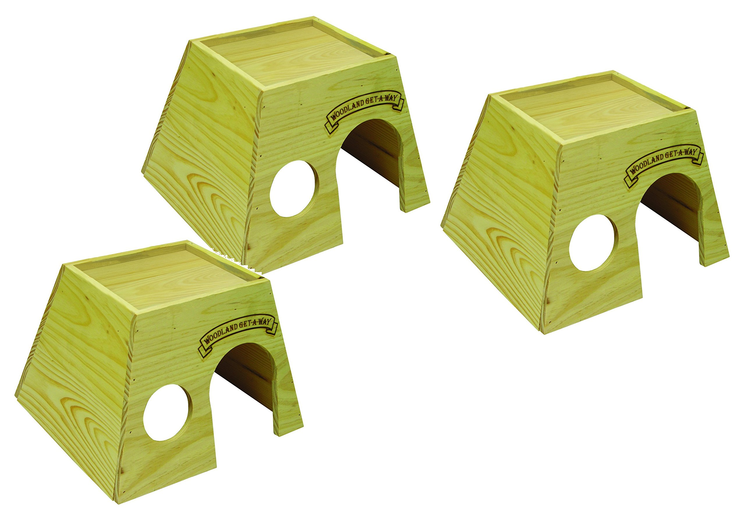 Super Pet Woodland Get-A-Way Large Guinea Pig House (3 Pack) by Super Pet