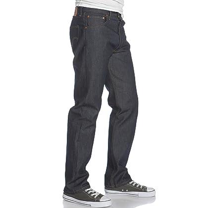 10c80dce9d0 Levi's Men's 501 Original Shrink-to-Fit Jeans, Rigid STF, 36WX34L ...