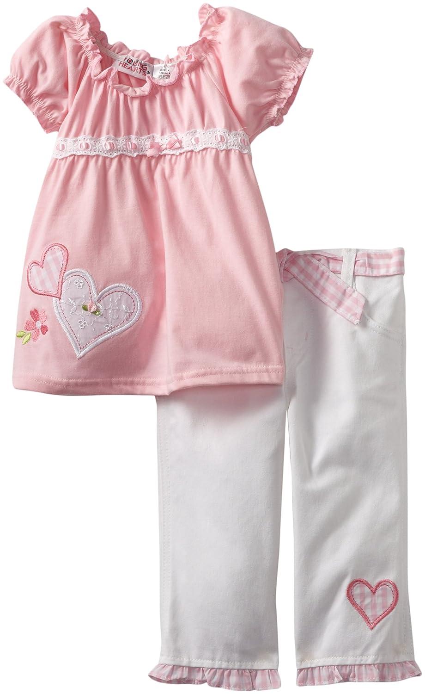 Young Hearts Little Girls 2 Piece Heart Capri Set
