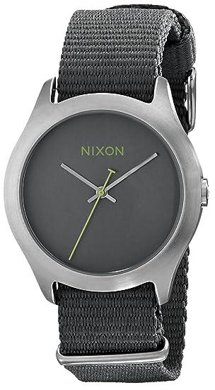 Nixon A348147 - Reloj de pulsera Mujer hombre, Tela, color Gris