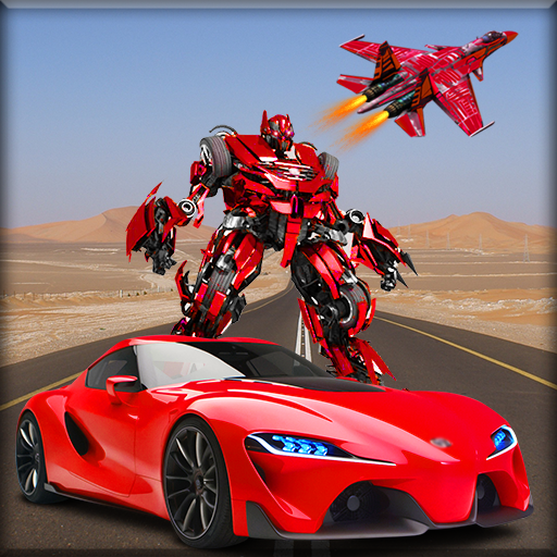 Police Air Jet Robot Car Transform Shooting Game (Best Car Shooting Games)