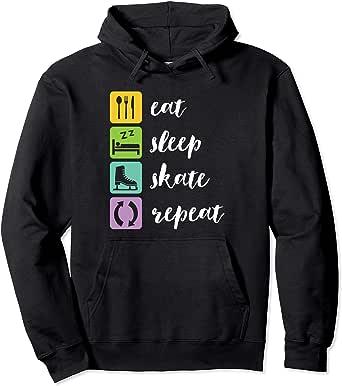 Eat sleep ice skate men/'s hoody hoodie funny birthday gift skating sport