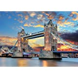 Rocorose 1000 Piece Jigsaw Puzzle, Tower Bridge Floor Puzzle for Kids Adult