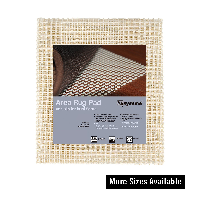 MAYSHINE Non-Slip Area Rug Pad Mat Underlay Multipurpose for Hard Surface Floor (4' x 6')