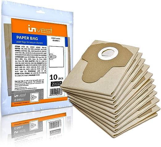 10 bolsas de aspiradora adecuadas para Parkside PNTS 1300 B2 C3 D3 ...