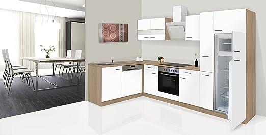 respekta Economy - Mueble para Cocina en ángulo en L Roble Blanco ...