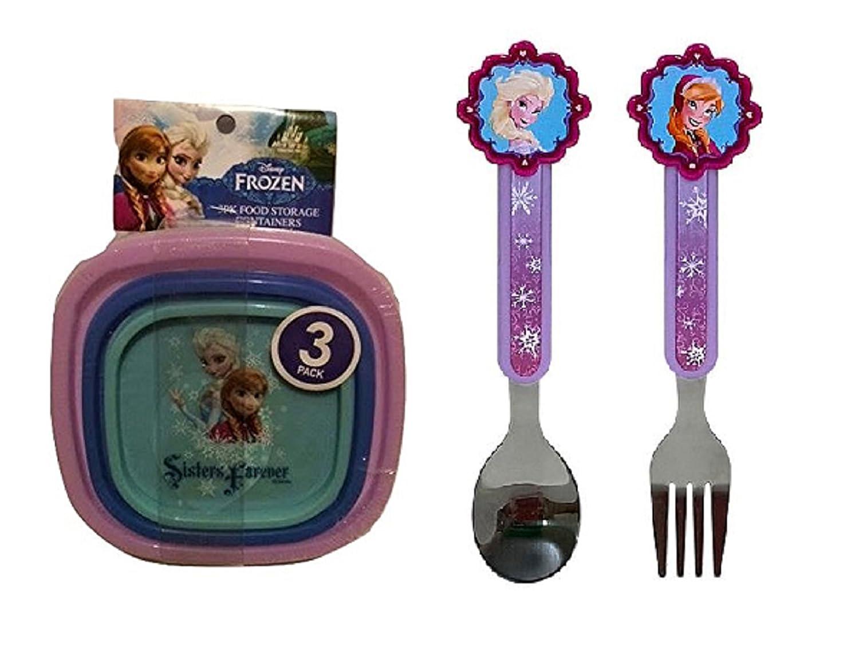 祝開店!大放出セール開催中 Disney Frozen Snack Flatware Set Girls Stainless Princess Fork Spoon Kids & Toddler Baby Stainless Steel Silverware (Silverware & Snack combo) by Disney B018TGFUBA, ユーロキッチンかさい:1aed4797 --- a0267596.xsph.ru