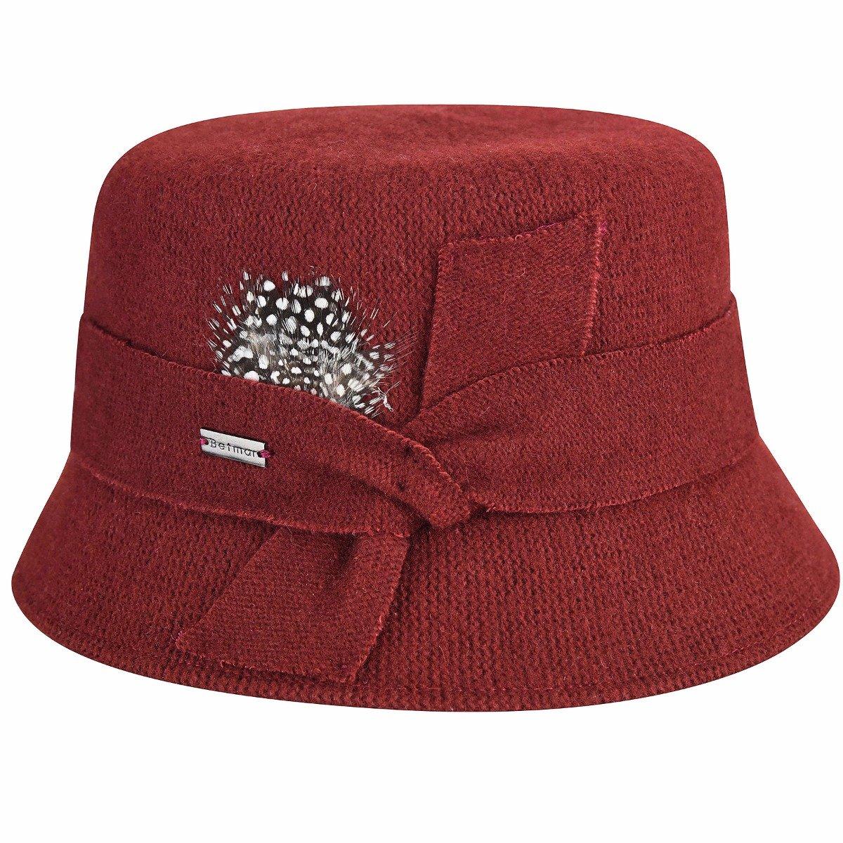 Betmar Women's Laurel Wool Bucket Hat, Spice One Size