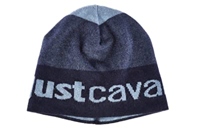Just Cavalli men s wool beanie hat blu UK size UNI C24 AO20  Amazon ... b3fc44ba0fc
